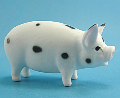 Miniature Japan Bone China Spotted Pig