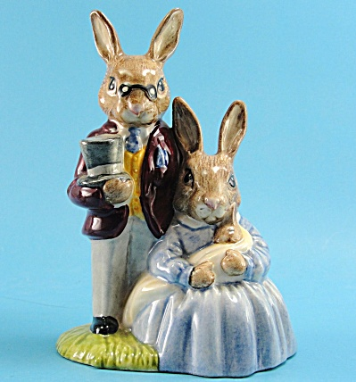 Royal Doulton Father Mother Victoria Bunnykins