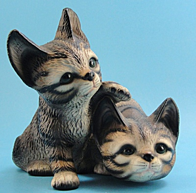 Harvey Knox Kingdom Tabby Kitten Pair Figurine (Image1)