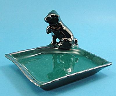 Vintage German Porcelain Dog Trinket Dish (Image1)