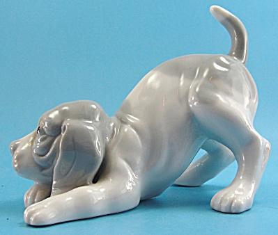 Porcelain Play Pose Hound Dog Puppy (Image1)