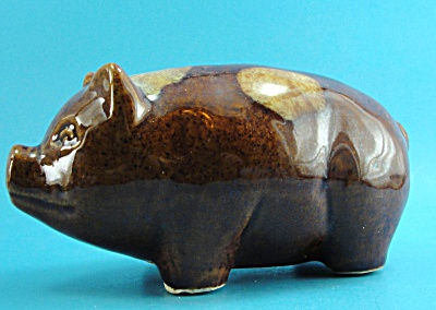 Vintage US Pottery Piggy Bank (Image1)