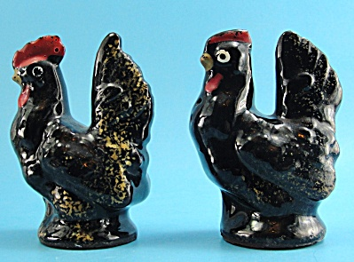 1960s Japan Redware Chicken Shaker Set (Image1)