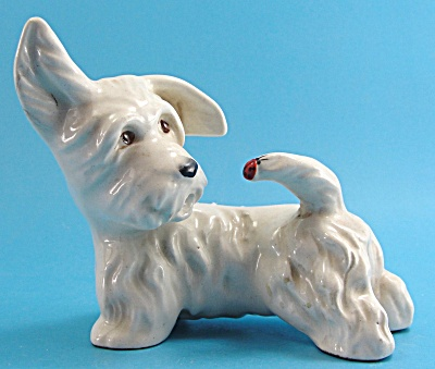 Vintage Beswick West Highland Terrier With Ladybug