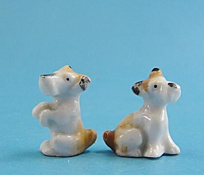 1930s Porcelain Terrier Dog Set of Three (Image1)