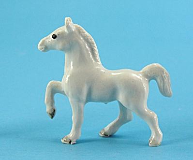 Klima Super Mini Porcelain White Prancing Horse (Image1)