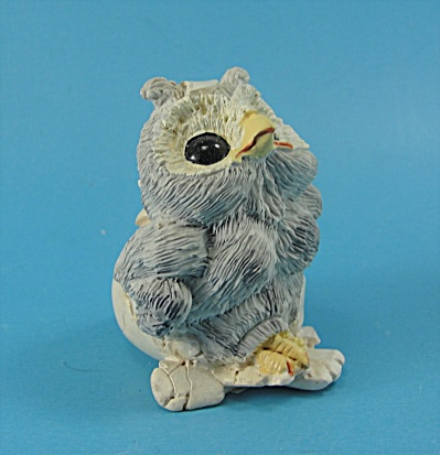 Enesco Kathy Wise Baby Owl In Eggshell