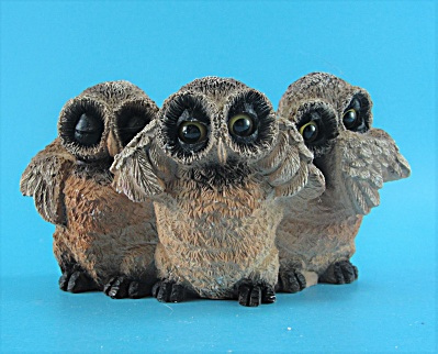 1998 United Design Resin Morality Owls