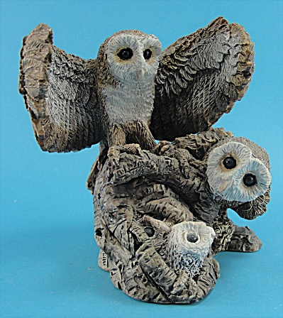Stone Critters Barn Owl Family