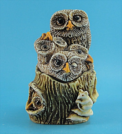 1995 Siab Owl Family Trinket Box