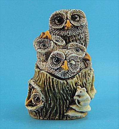 1995 SIAB Owl Family Trinket Box (Image1)