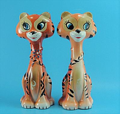 Ceramic Tiger Salt and Pepper Set  (Image1)