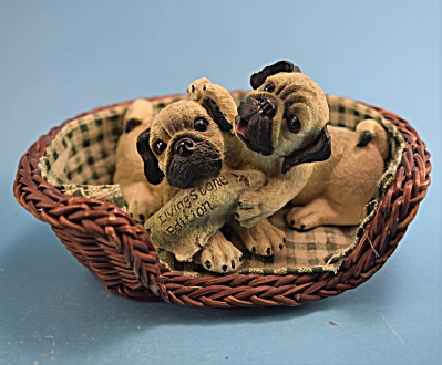 Living Stone Pugs in a Basket  (Image1)