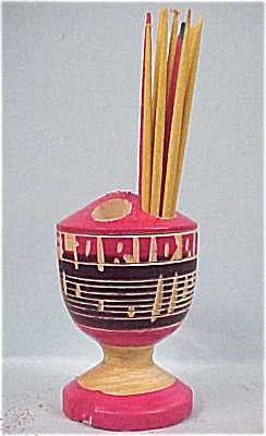 Wood Florida Souvenir Toothpick Holder (Image1)