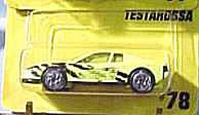 Matchbox #78 Lime Testarossa (Image1)