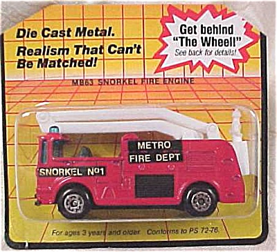 Matchbox #63 Snorkel Fire Engine (Image1)