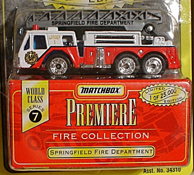 Matchbox Premiere Series 7 Springfield Fire Dept. (Image1)