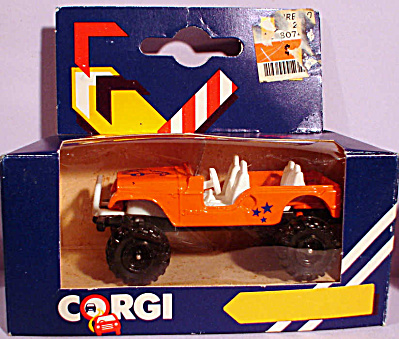 1980s Corgi Jr. Orange Jeep