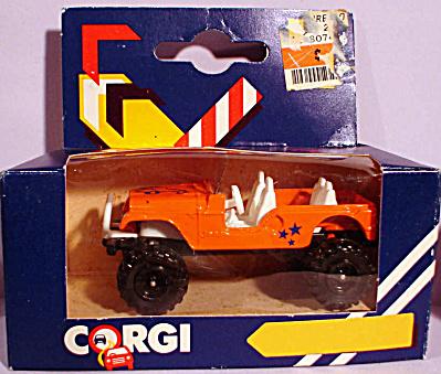 1980s Corgi Jr. Orange Jeep (Image1)