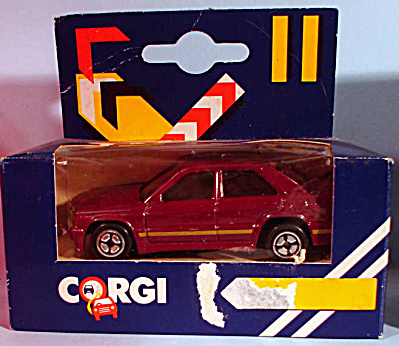 1980s Corgi Jr. Burgundy 4-door