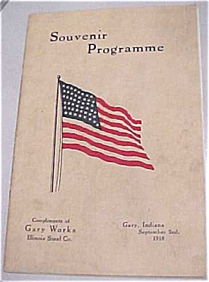 Souvenir Program for Gary Steel Labor Day (Image1)