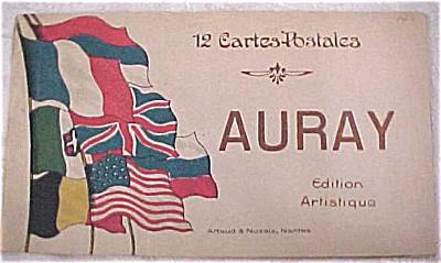 Old Souvenir Postcard Book - Auray (Image1)