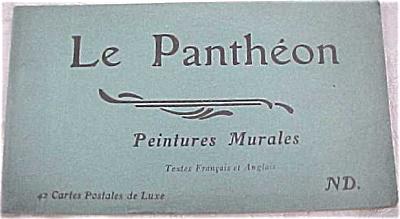 Old Souvenir Postcard Book - Le Pantheon (Image1)