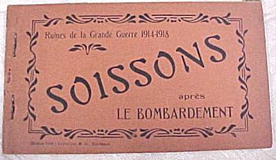 WW1 Souvenir Postcards - Soissons Ruins (Image1)