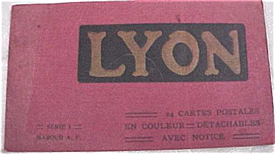 Old Souvenir Postcard Book - Lyons (Image1)