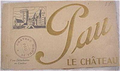 Old Souvenir Postcard Book - Pau (Image1)