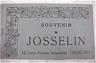 Old Souvenir Postcard Book - Josselin (Image1)