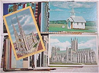 Us Postcard Lot - Religion & Churches