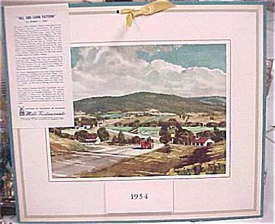 1954 Mills Restaurant Print Landscape Calendar (Image1)