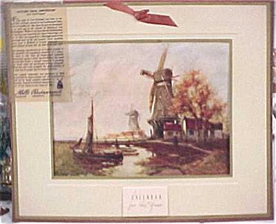 1945 Mills Restaurant Print Windmill Calendar (Image1)
