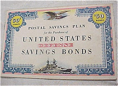 1940s Defence Stamp Savings Bond Book (Image1)
