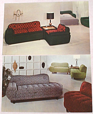 ''modern Furniture'' Advertising Postcard Pair