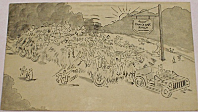 1953 Handlebar Ranch Hayride Postcard (Image1)