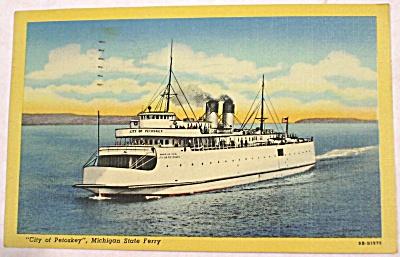 1953 Petoskey Michigan State Ferry Postcard (Image1)