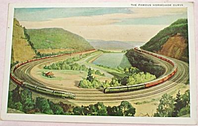 Pennsylvania Railroad Attoona Horseshoe Curve Postcard (Image1)