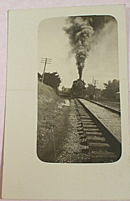 Real Photo Train Engine Postcard (Image1)