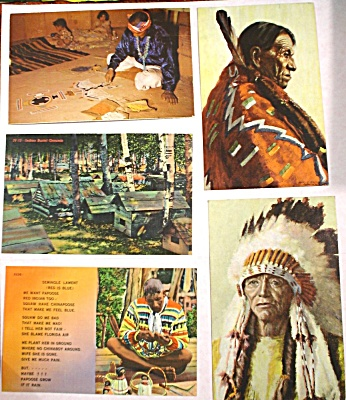 Five Native American Postcards (Image1)