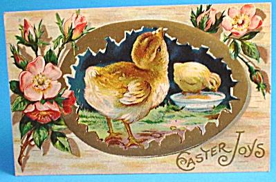 1912 Postcard: Easter Greeting, Chicks, Used (Image1)