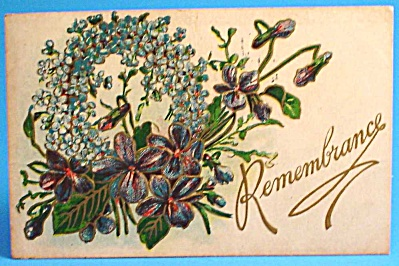 1909 Postcard: Greeting, Remembrance, Used (Image1)