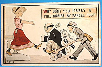 1913 Postcard: Marry a Millionaire, Used (Image1)
