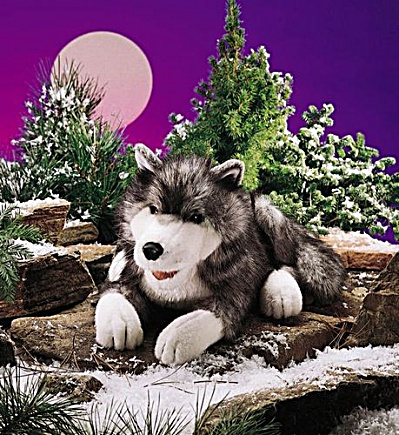 Folkmanis Timber Wolf Hand Puppet (Image1)