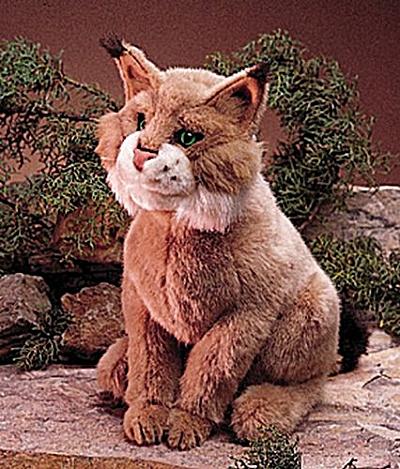 Folkmanis Bobcat Hand Puppet (Image1)