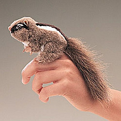 Folkmanis Finger Puppet Chipmunk (Image1)