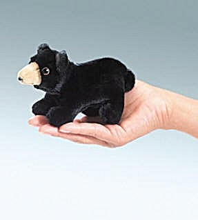 Folkmanis Finger Puppets Mini Black Bear