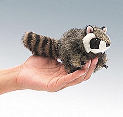 Folkmanis Finger Puppet Raccoon (Image1)