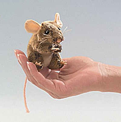 Folkmanis Finger Puppet Field Mouse (Image1)